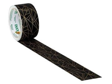 Duck Tape® 48mm x 9.1m Gold Geometric